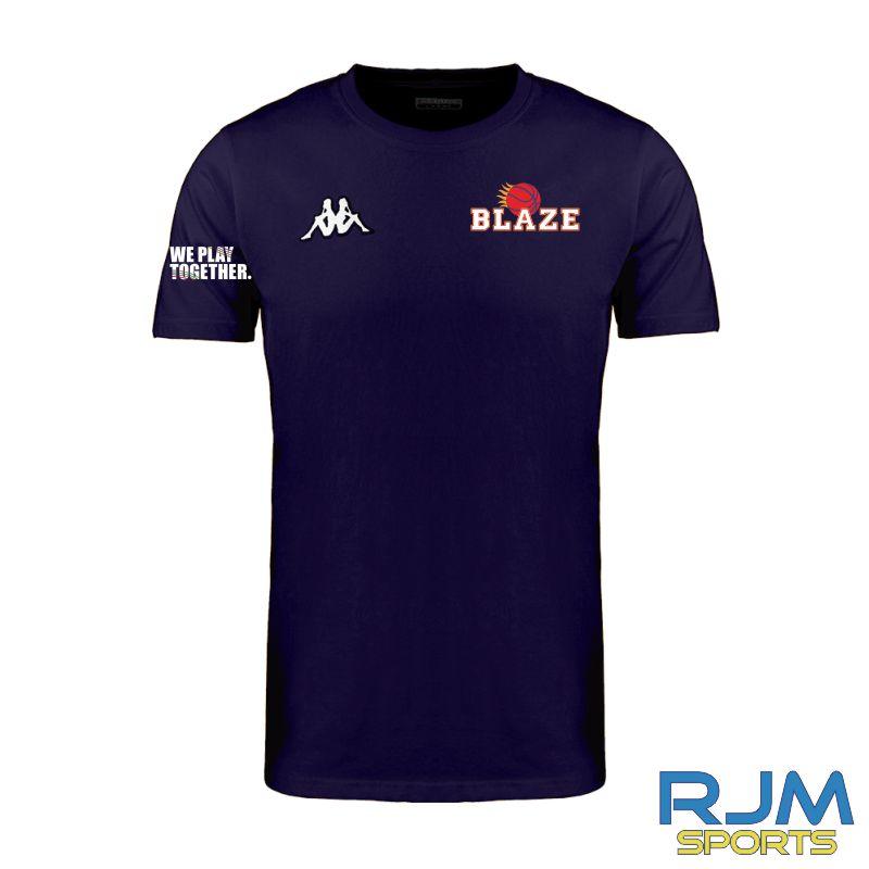 Boroughmuir Blaze Kappa Meleto T-Shirt Marine