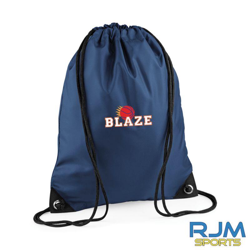 Boroughmuir Blaze Bagbase Drawstring Bag Navy