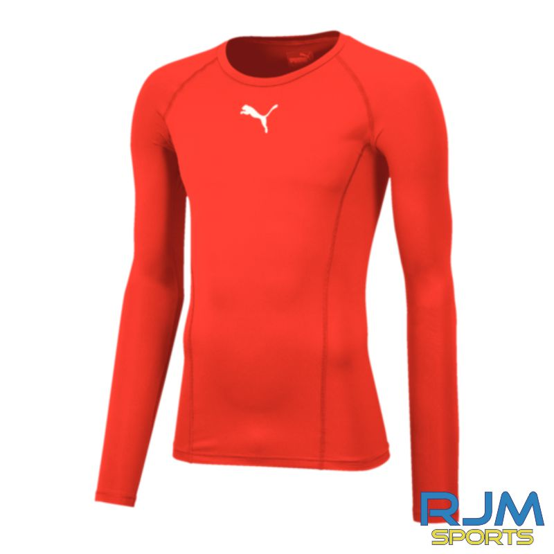 Cumbernauld Colts Puma Baselayer Long Sleeve Shirt Red