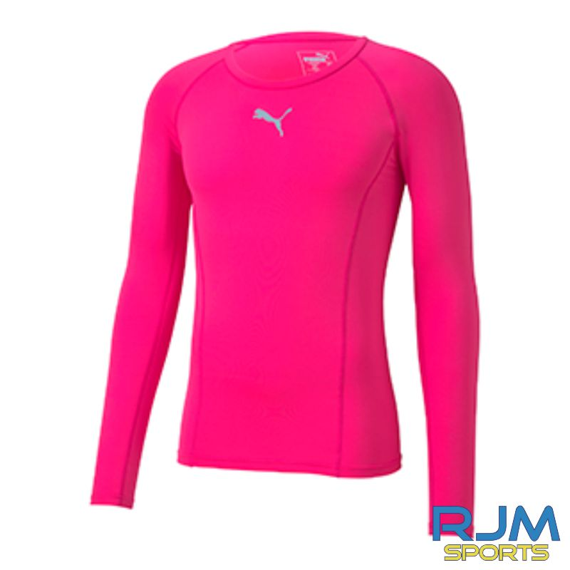 Cumbernauld Colts Puma Baselayer Long Sleeve Shirt Pink Glimmer