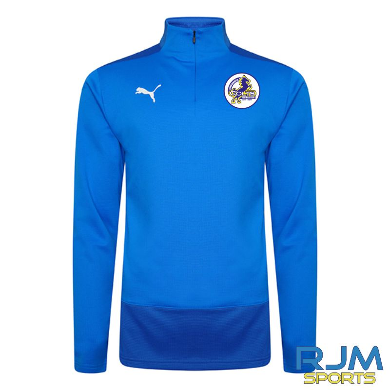 Cumbernauld Colts Players Puma Goal Quarter Zip Electric Blue