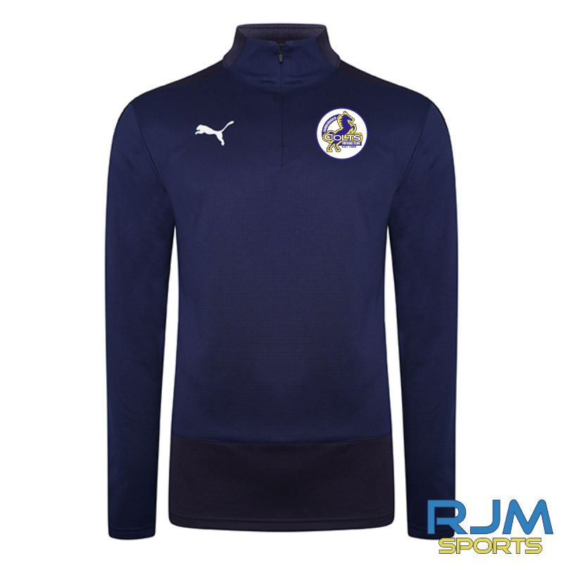 Cumbernauld Colts Coaches Puma Goal Quarter Zip Peacoat