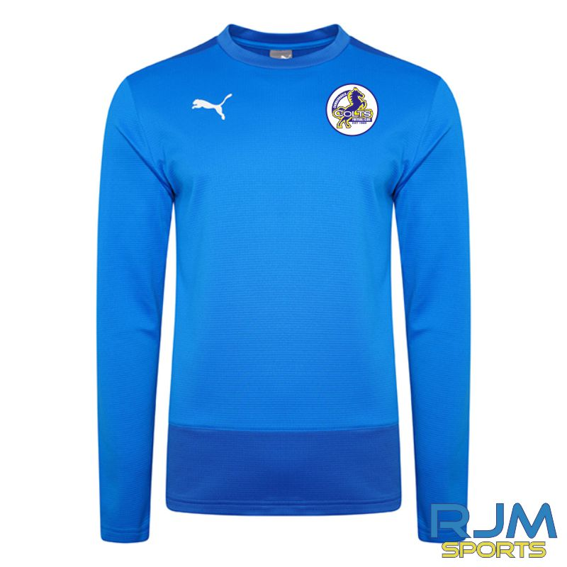 Cumbernauld Colts Players Puma Goal Sweat Top Electric Blue