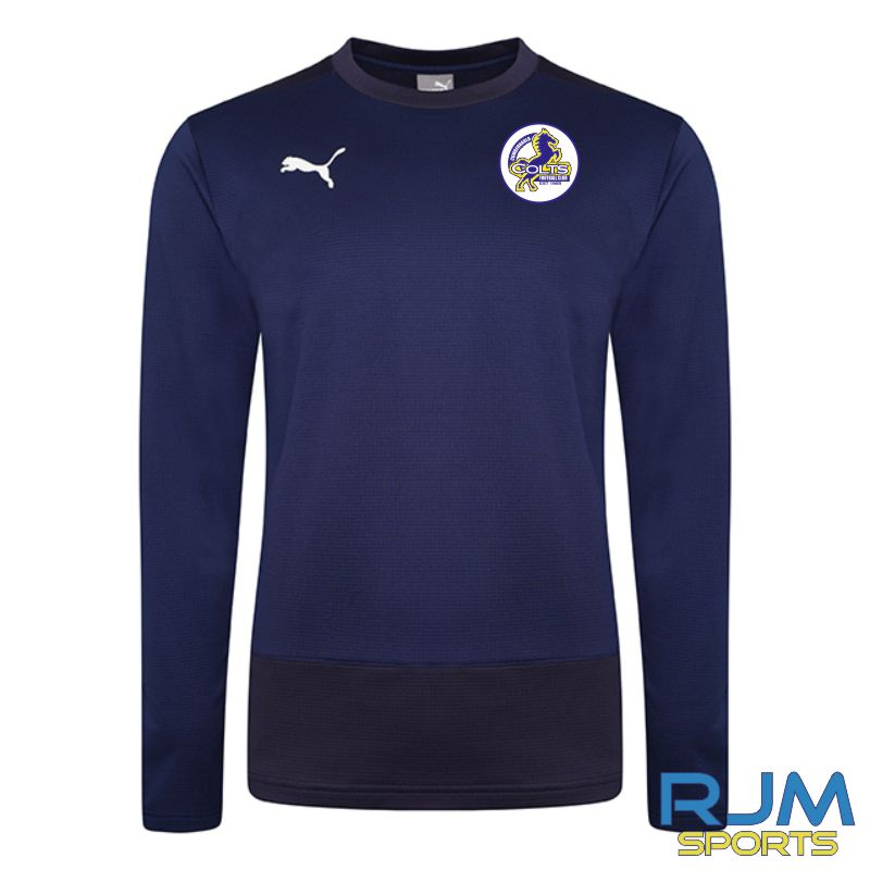 Cumbernauld Colts Coaches Puma Goal Sweat Top Peacoat