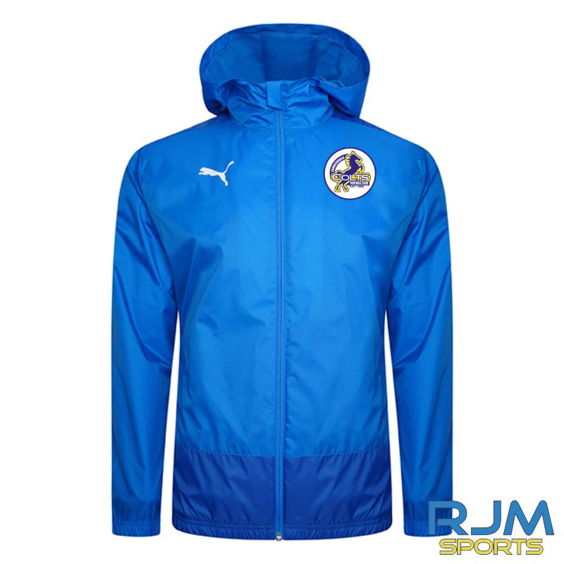 Cumbernauld Colts Players Puma Goal Rain Jacket Electric Blue