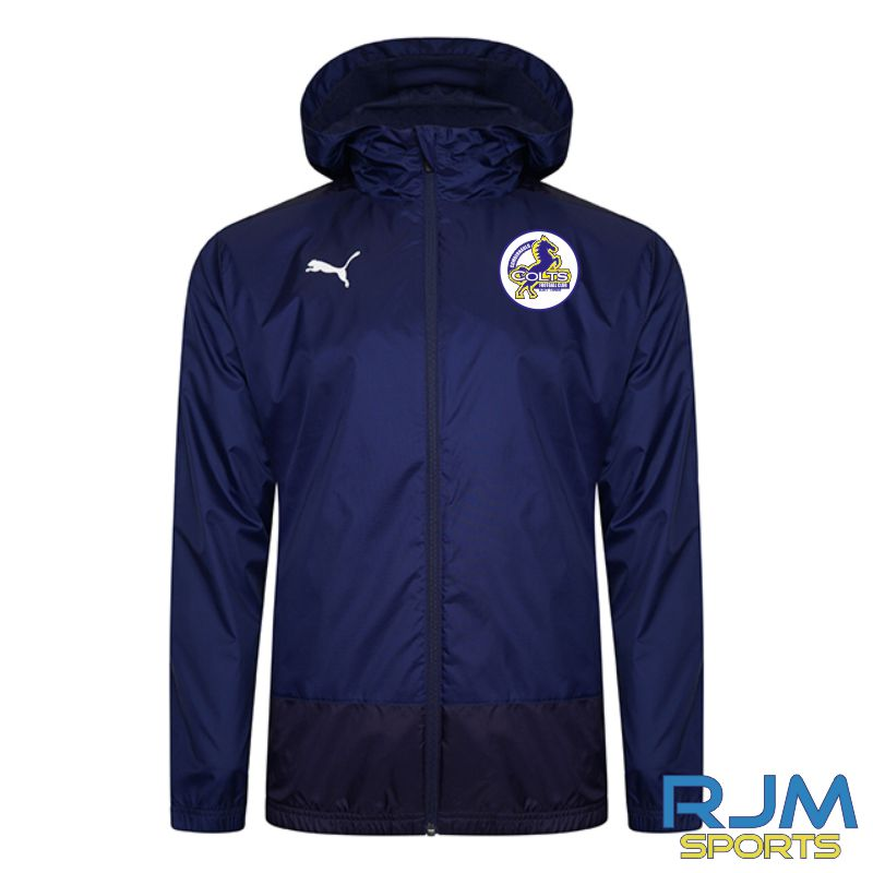 Cumbernauld Colts Coaches Puma Goal Rain Jacket Peacoat