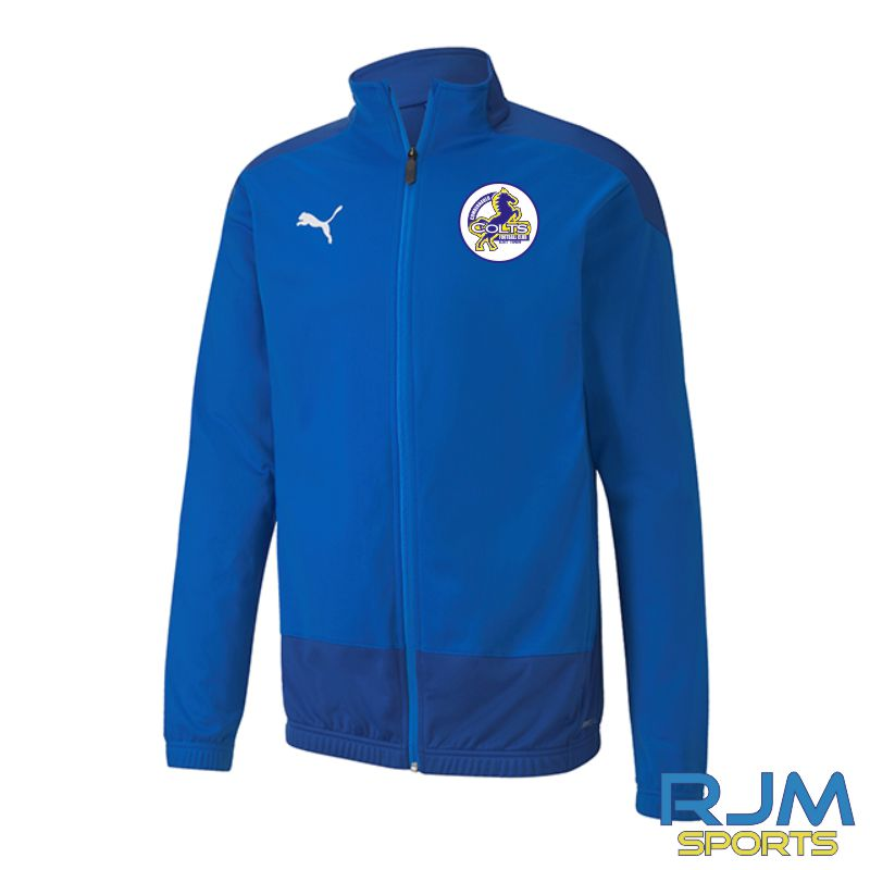 Cumbernauld Colts Players Puma Goal Training Jacket Electric Blue