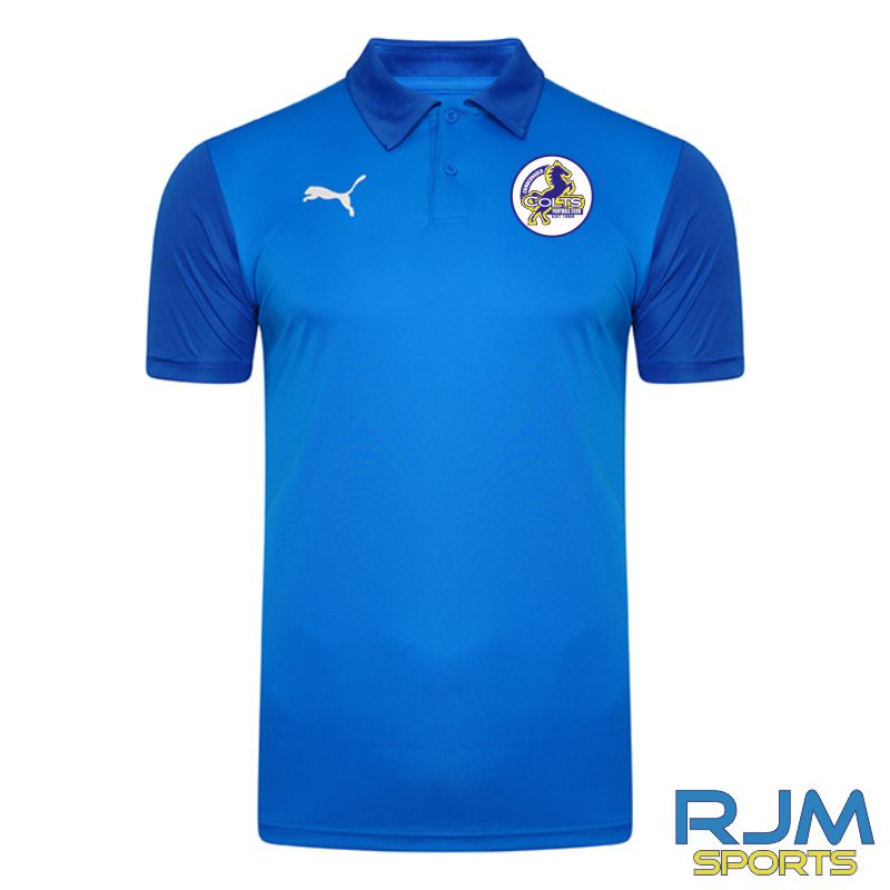 Cumbernauld Colts Players Puma Goal Sideline Polo Shirt Electric Blue
