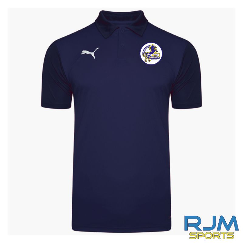 Cumbernauld Colts Coaches Puma Goal Sideline Polo Shirt Peacoat