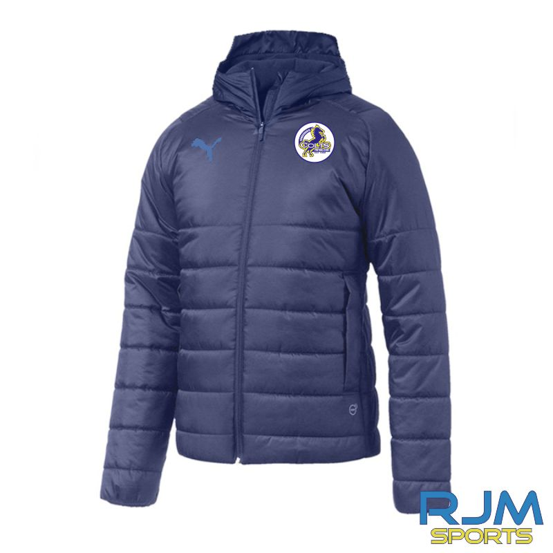 Cumbernauld Colts Puma Team Padded Jacket Peacoat