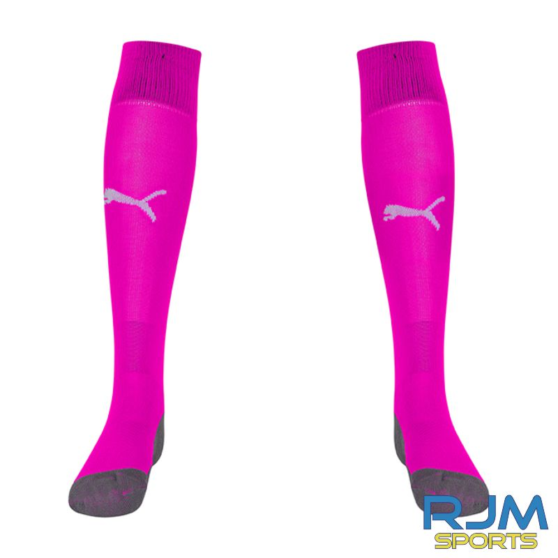 Cumbernauld Colts Girls Puma Liga Core Socks Fluo Pink