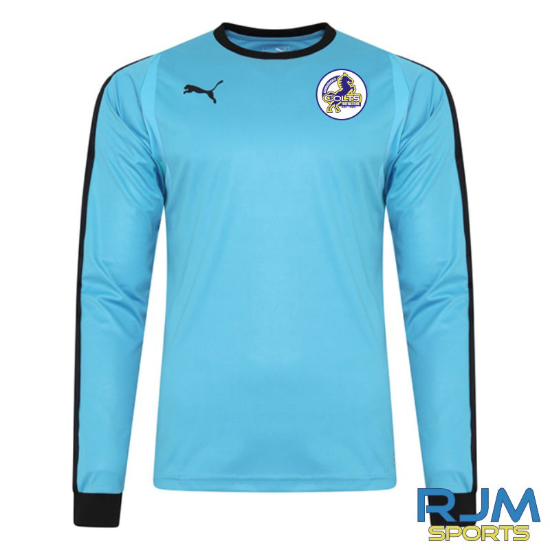 Cumbernauld Colts GK Puma Liga Long Sleeve Shirt Aquarius