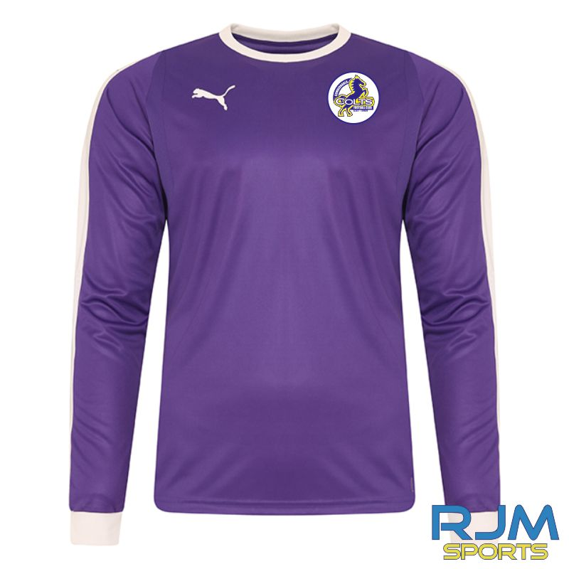 Cumbernauld Colts GK Puma Liga Long Sleeve Shirt Prism Violet
