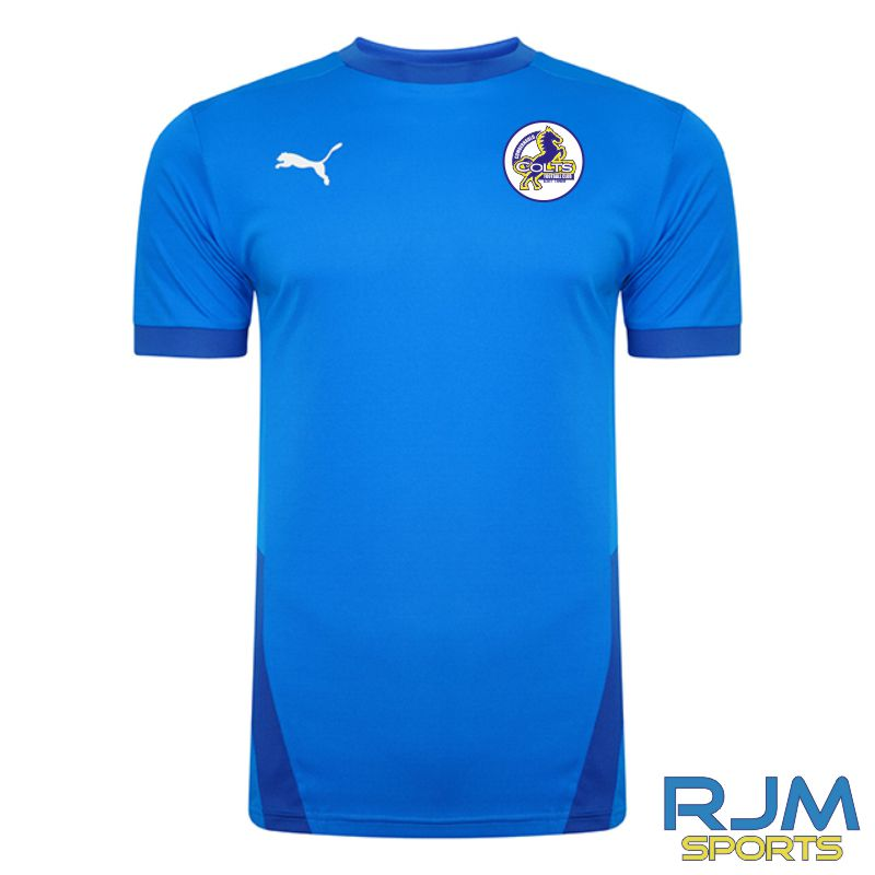 Cumbernauld Colts Players Puma Goal Short Sleeve Shirt Electric Blue