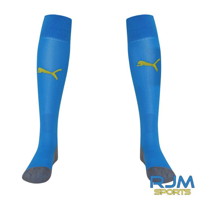 Dunipace FC Away Puma Liga Core Socks Electric Blue/Cyber Yellow
