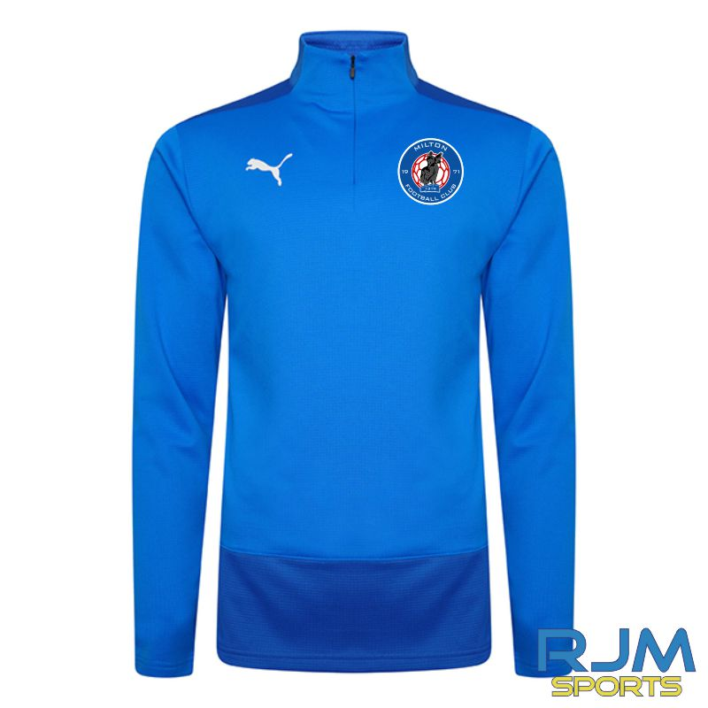 Milton FC Players Puma Goal 1/4 Zip Electric Blue