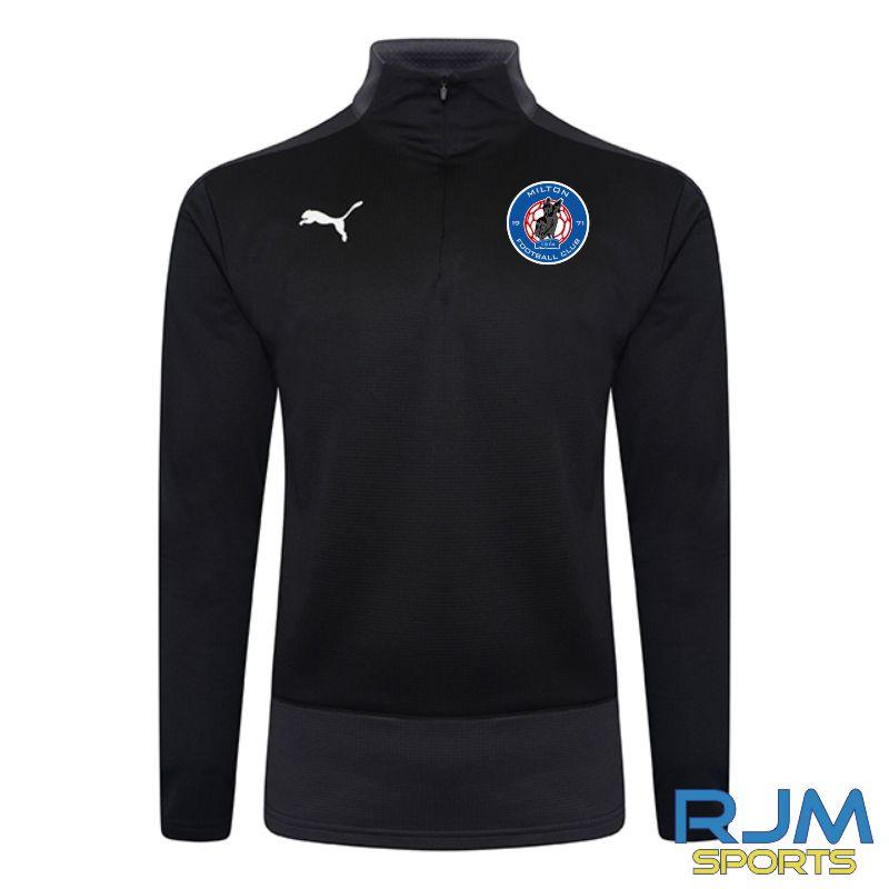 Milton FC Coaches Puma Goal 1/4 Zip Black