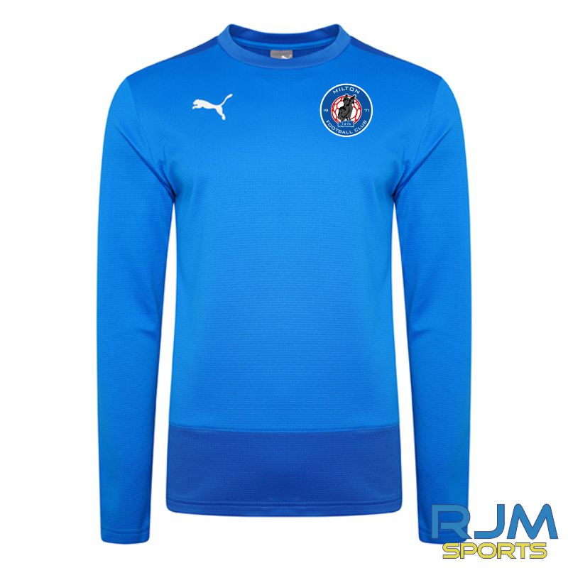 Milton FC Players Puma Goal Sweatshirt Electric Blue