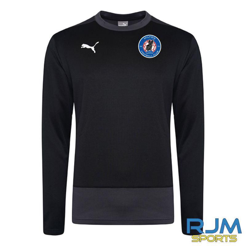 Milton FC Coaches Puma Goal Sweatshirt Black