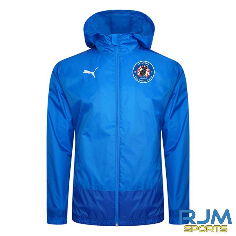 Milton FC Players Puma Goal Rain Jacket Electric Blue