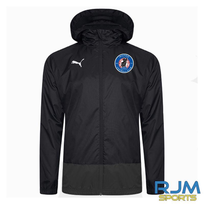 Milton FC Coaches Puma Goal Rain Jacket Black