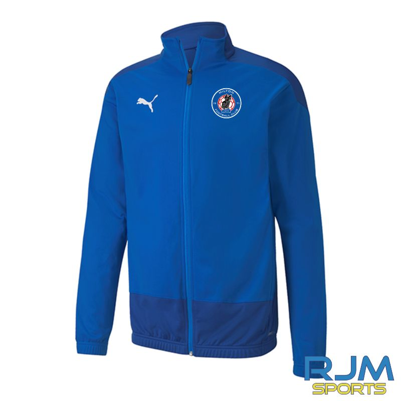 Milton FC Players Matchday Puma Goal Training Jacket Electric Blue