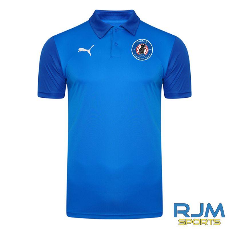 Milton FC Players Matchday Puma Goal Sideline Polo Shirt Electric Blue