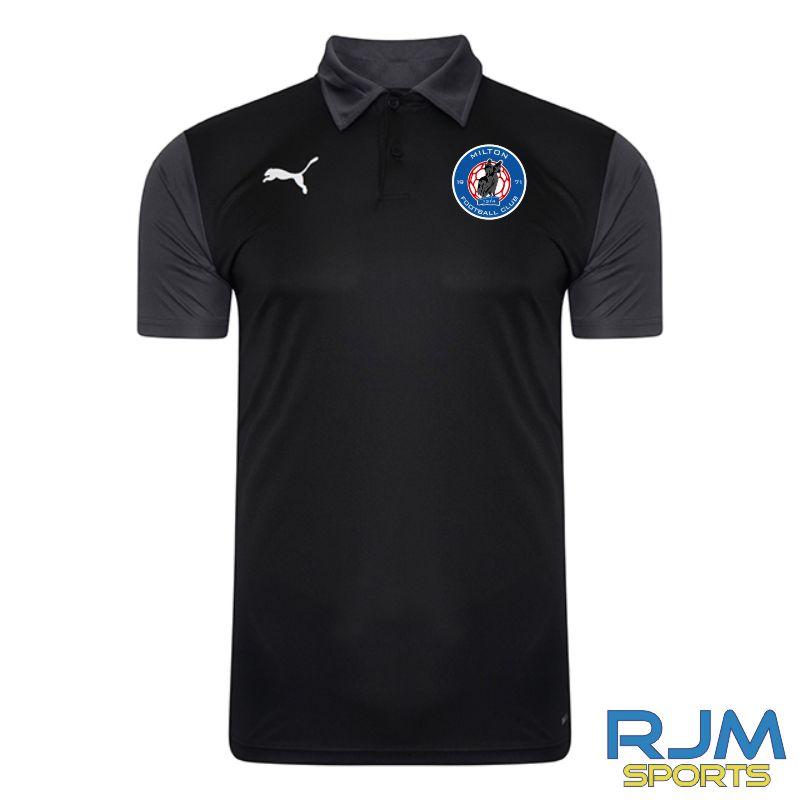 Milton FC Coaches Matchday Puma Goal Sideline Polo Shirt Black