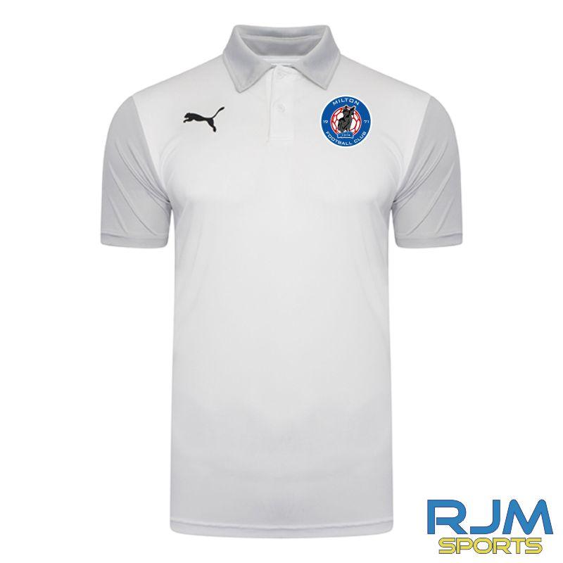 Milton FC Coaches Matchday Puma Goal Sideline Polo Shirt White