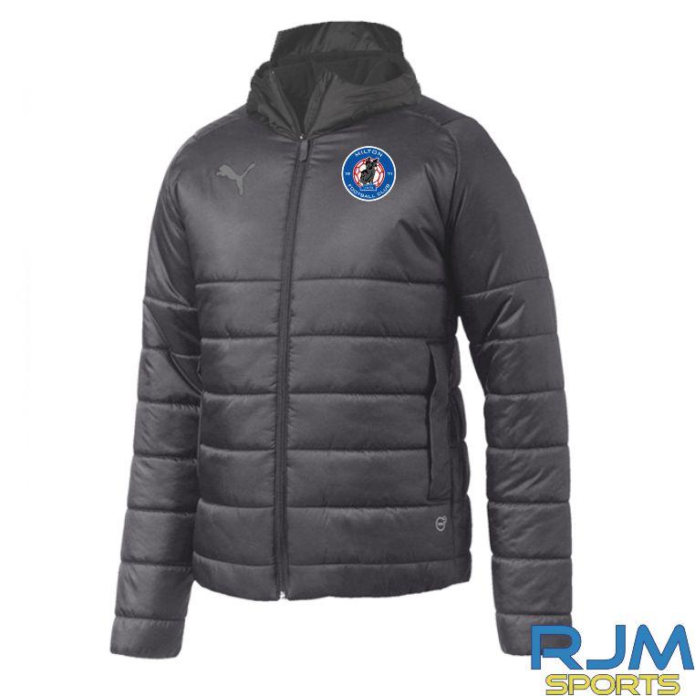 Milton FC Puma Team Padded Jacket Black