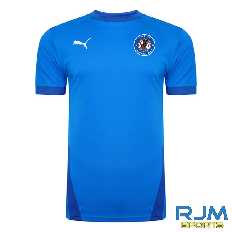 Milton FC Players Puma Goal Short Sleeve Shirt Electric Blue