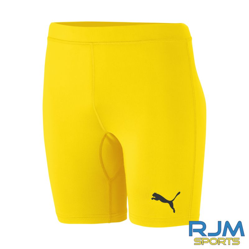 WITC Puma Liga Baselayer Shorts Cyber Yellow