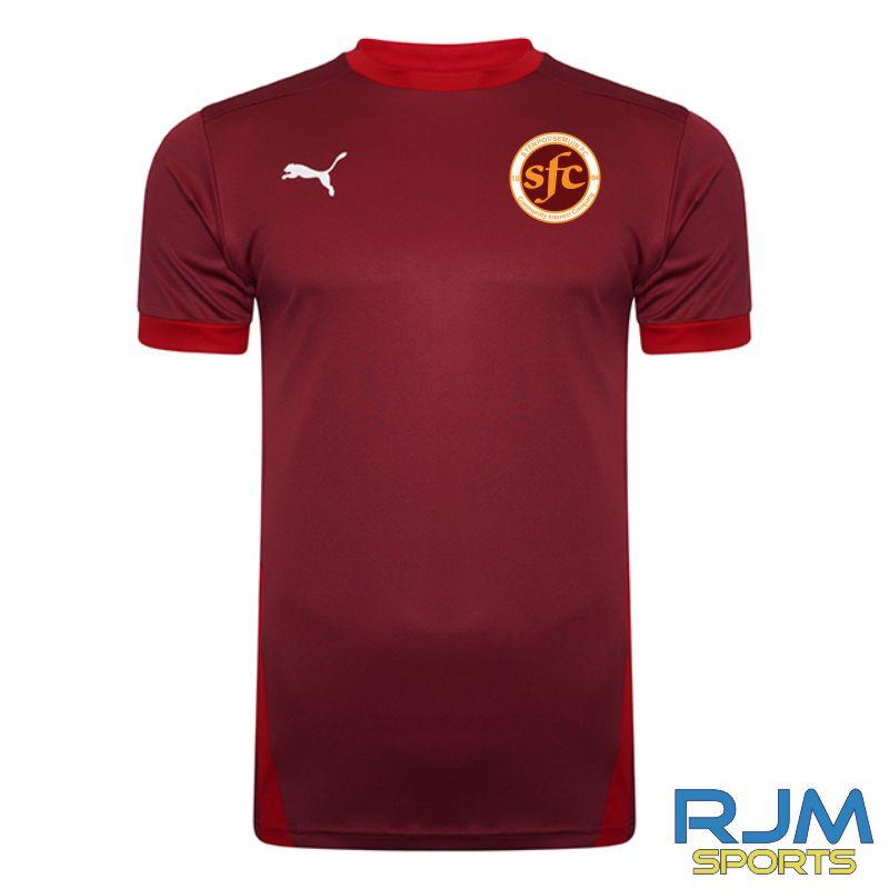 WITC Young Maroons Puma Goal Short Sleeve Shirt Cordovan