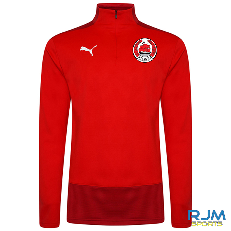 Clyde FC Puma Goal 1/4 Zip Top Red