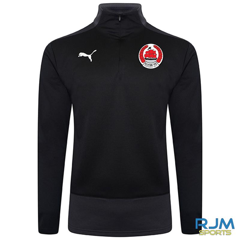 Clyde FC Puma Goal 1/4 Zip Top Black