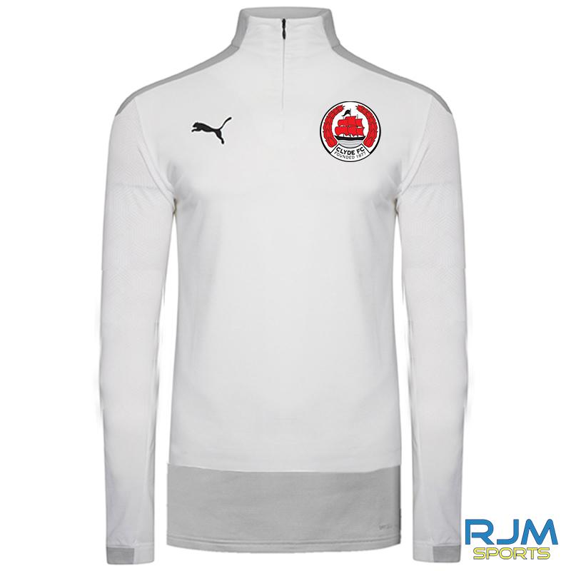 Clyde FC Puma Goal 1/4 Zip Top White