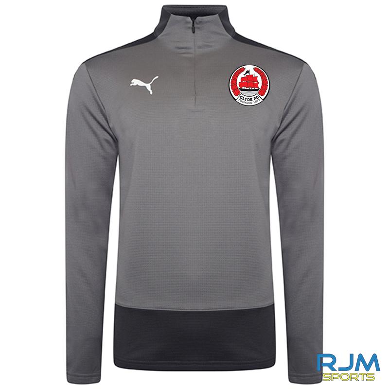 Clyde FC Puma Goal 1/4 Zip Top Steel Grey