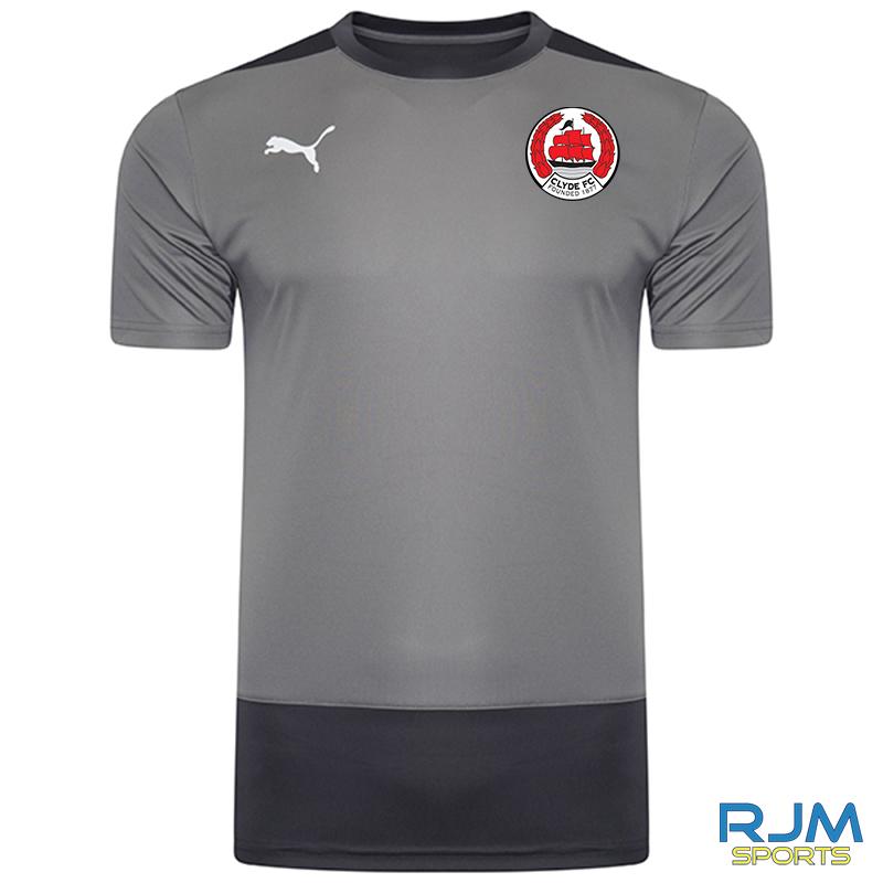 Clyde FC Puma Goal Training Jersey Steel Grey