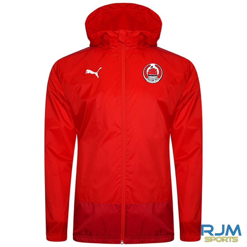 Clyde FC Puma Goal Rain Jacket Red