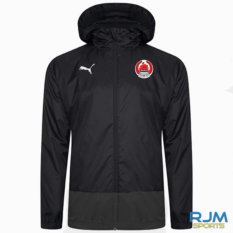 Clyde FC Puma Goal Rain Jacket Black