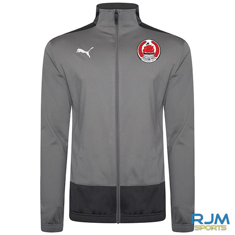 Clyde FC Puma Goal Training Jacket Steel Grey