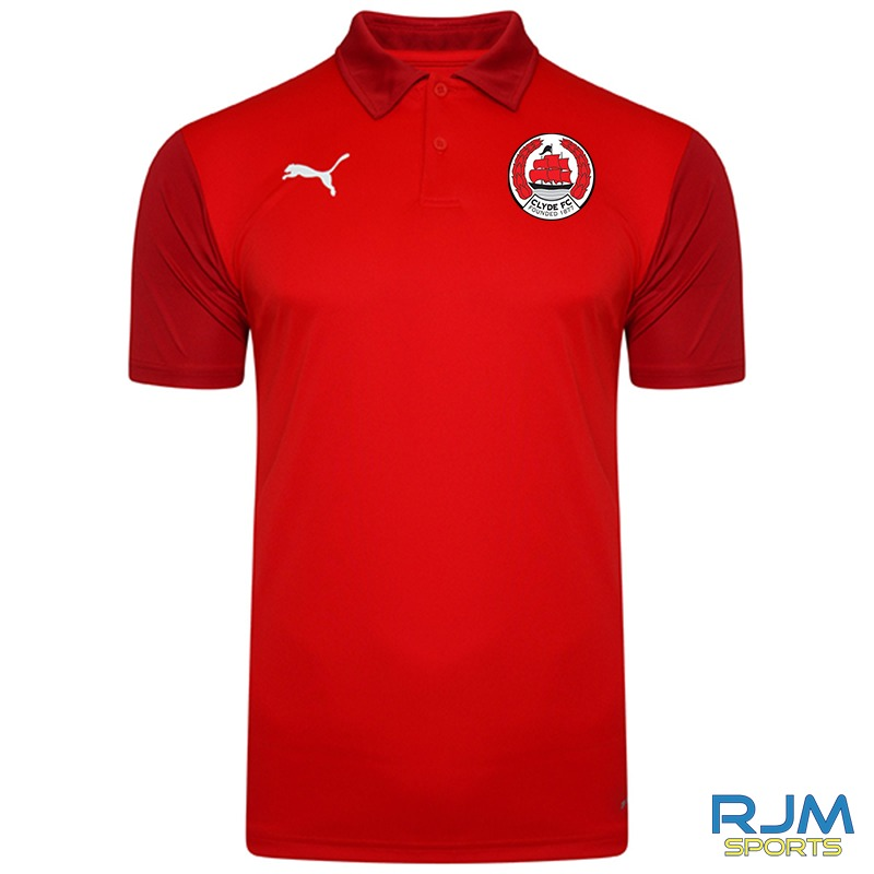 Clyde FC Puma Goal Sideline Polo Shirt Red