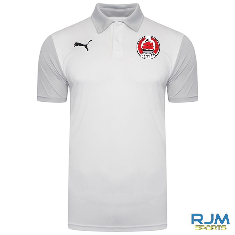 Clyde FC Puma Goal Sideline Polo Shirt White