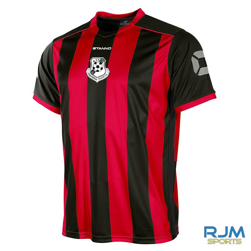 Bonnybridge Youths Stanno Brighton Short Sleeve Home Shirt Black Red