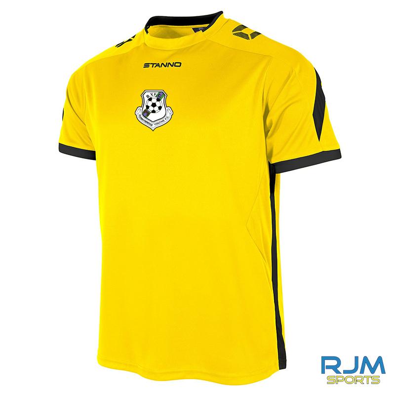 Bonnybridge Youths Stanno Drive Short Sleeve Away Shirt Yellow Black