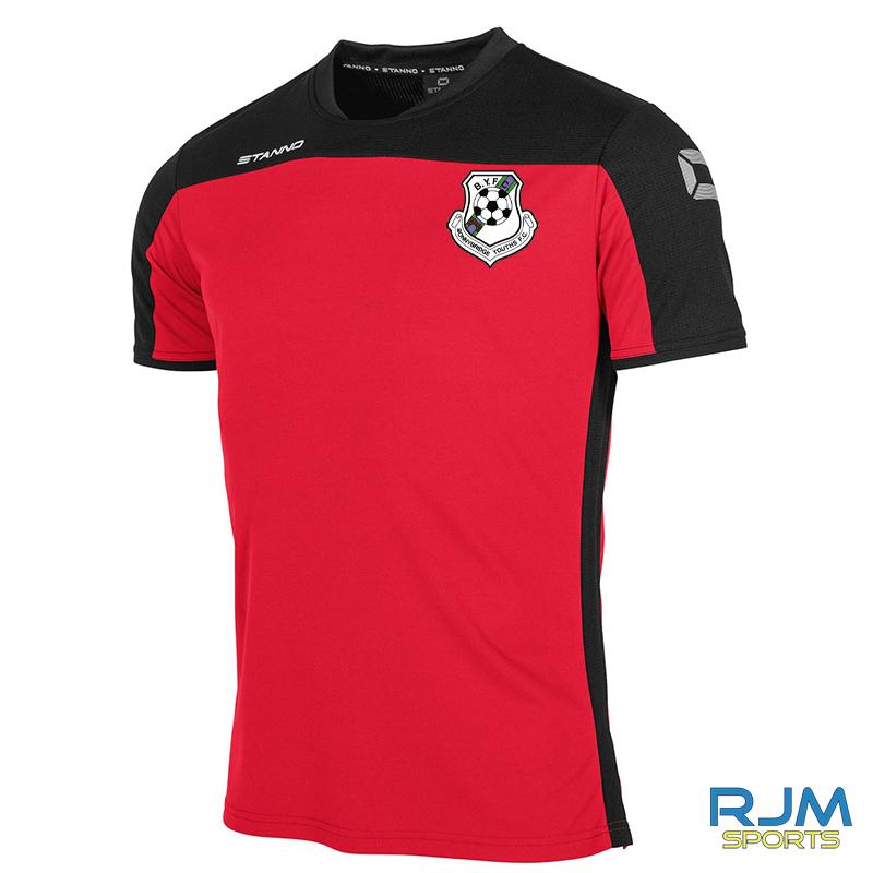 Bonnybridge Youths Stanno Pride T-Shirt Red Black