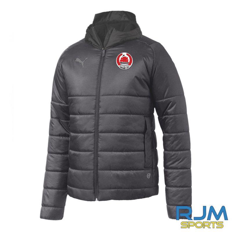 Clyde FC Puma Team Padded Jacket Black