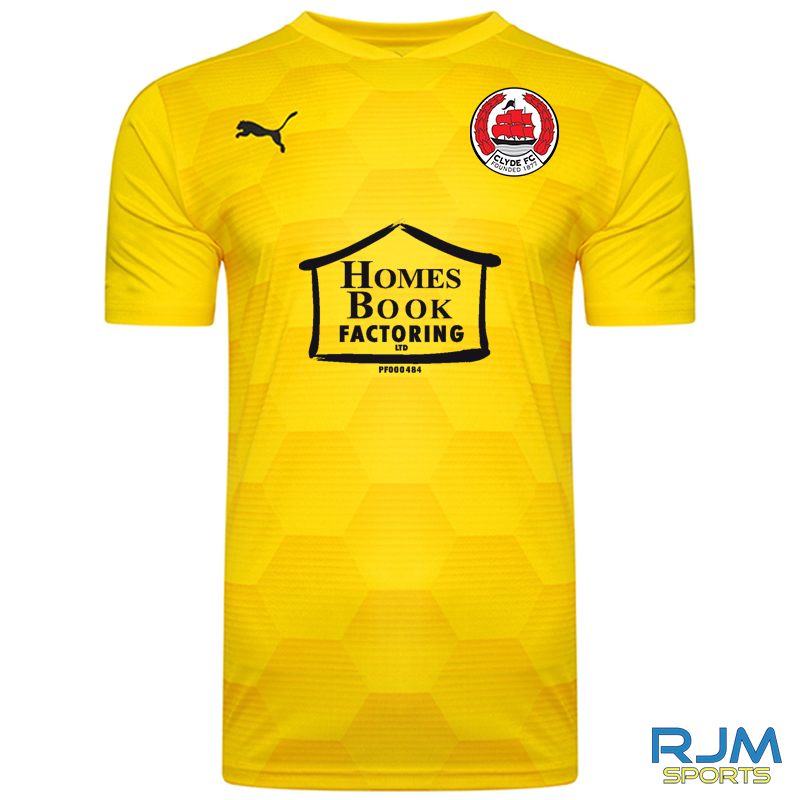 Clyde FC Puma Final Graphic 2021/22 Adult Home GK Shirt Cyber Yellow