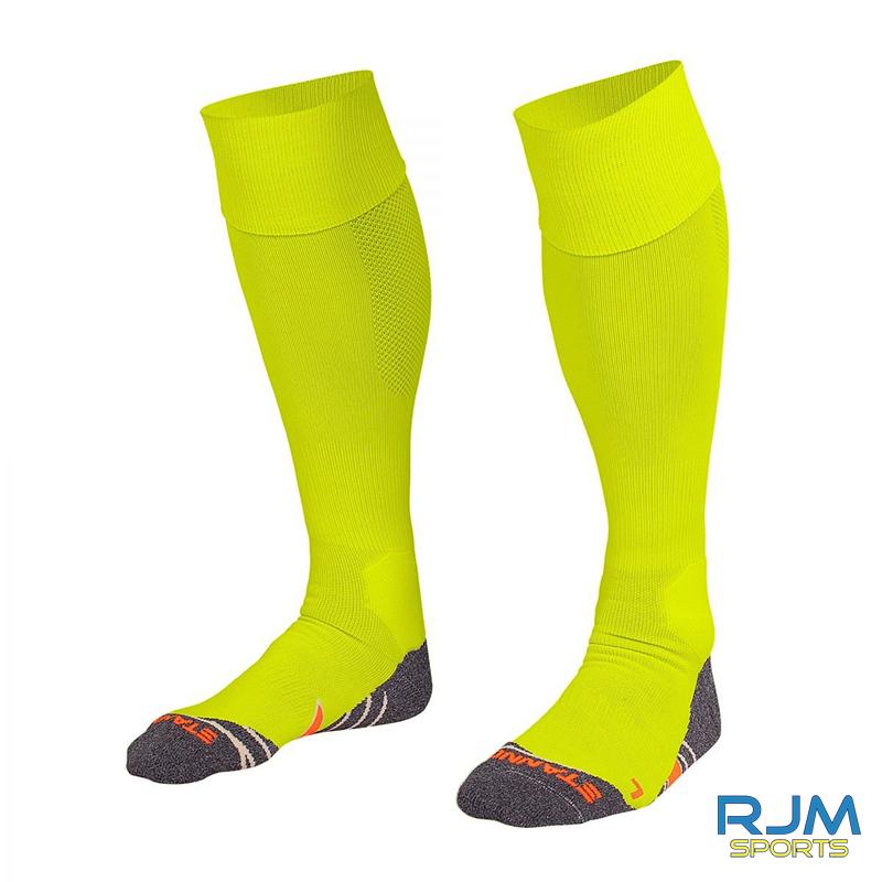 Callander Thistle FC Stanno Uni II Home Sock Neon Yellow