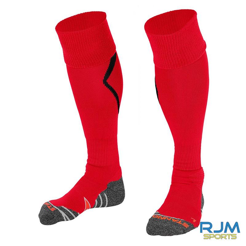 Callander Thistle FC Stanno Forza Sock Red Black